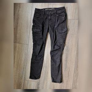 G star cargo skinny black jeans